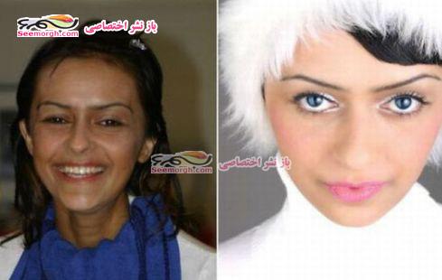 معجره آرایش برروی صورت زنان 3