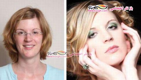 معجره آرایش برروی صورت زنان 6