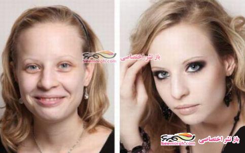 معجره آرایش برروی صورت زنان 4