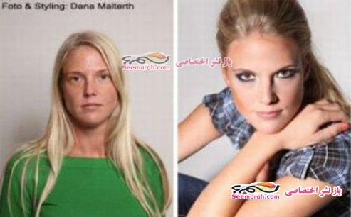 معجره آرایش برروی صورت زنان 5