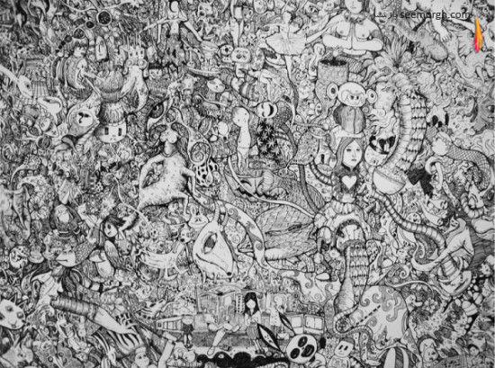 نقاشیهای باورنکردنی با قلم و جوهر!! www.TAFRIHI.com