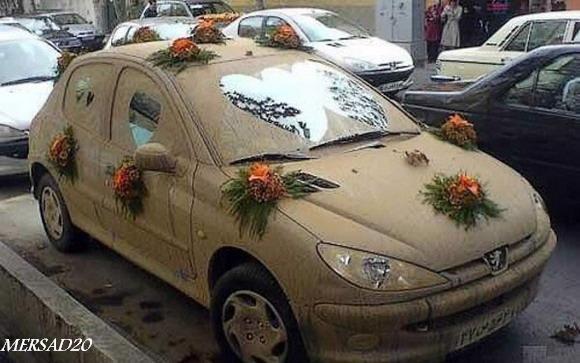 عکس   2 ماشین عروس عجیب اما جالب در ایران