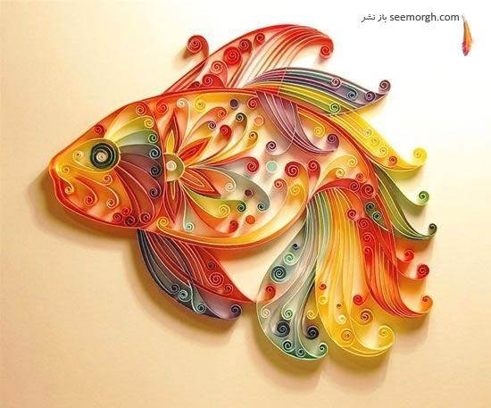 گزارش تصویری: آثار هنری کاغذی زیبا و شکننده! www.TAFRIHI.com