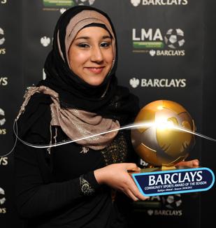 دختری که حجاب را به لیگ برتر انگلیس آورد! + عکس www.TAFRIHI.com