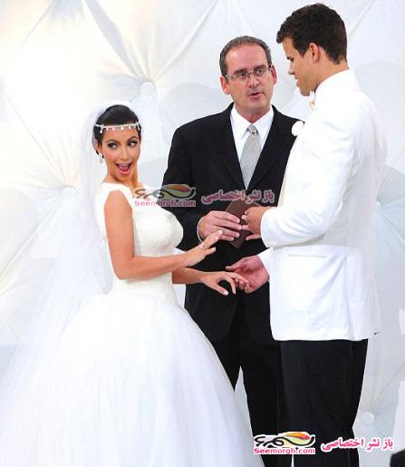 عکس عروسی کیم کارداشین
