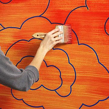آموزش طراحی با نقوش آسیایی روی دیوار (+عکس)