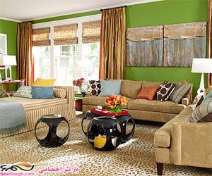 1 اتاق نشیمن با 4 رنگامیزی مختلف چقدر تغییر میکند؟