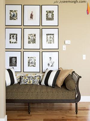 خانه ای با ترکیب طرحها و رنگها