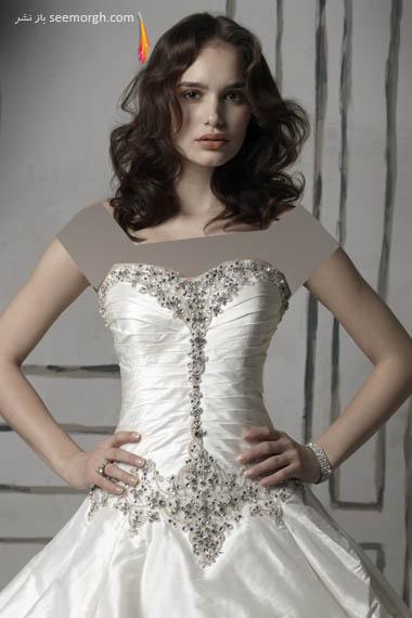 مدلهای لباس عروس بسیار زیبا از جاستین الکساندر طراح معروف - مدل شماره 16