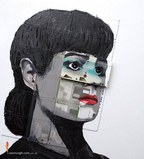 نقاشیهای غیرعادی بر روی فلاپی و نوار کاست! ww.TAFRIHI.com