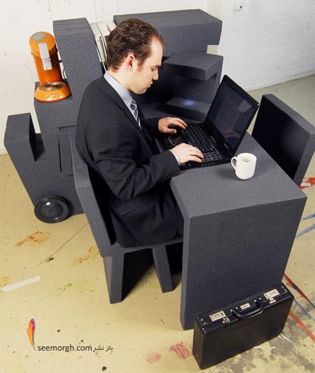 جدیدترین طراحی از یک میز کار قابل حمل و جالب! www.TAFRIHI.com