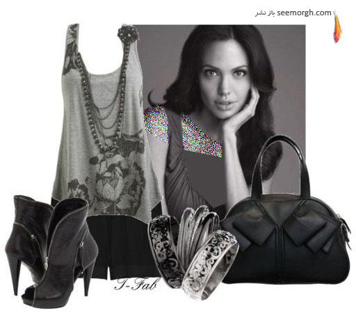 نمونه های مختلف ست کردن لباس انجلینا جولی!