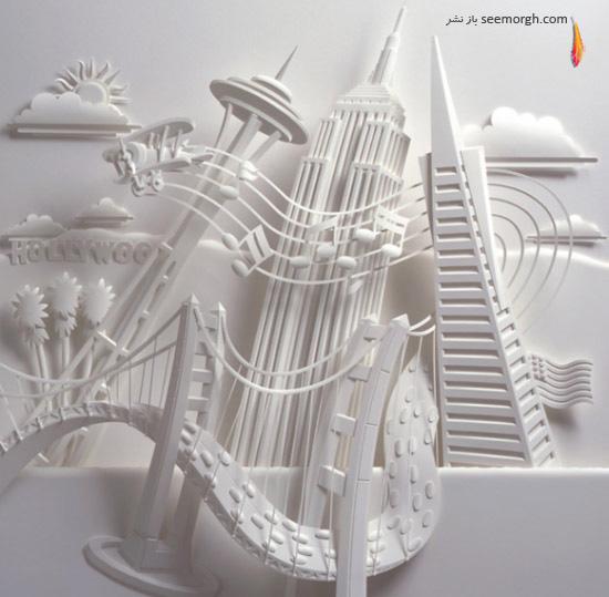 بازی نور و سایه؛ مجسمههای زیبای سه بعدی کاغذی!! www.TAFRIHI.com