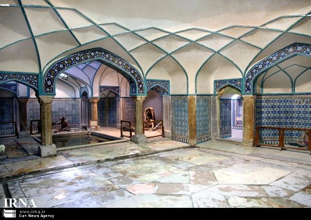فضای داخلی حمام گنجعلی خان کرمان
