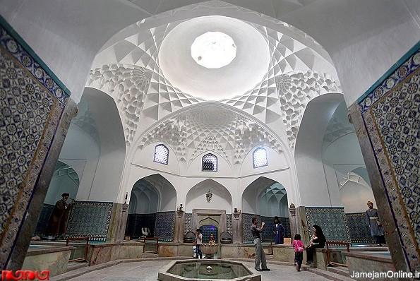 نمایی از فضای داخلی حمام گنجعلی خان کرمان