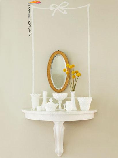 ویترینی زیبا از آینه,ایده هایی زیبا برای چیدمان شیک منزل تان,دکوراسیون داخلی,چیدمان شیک, دکوراسیون داخلی خانه تان را با این ایده ها شیک بچینید