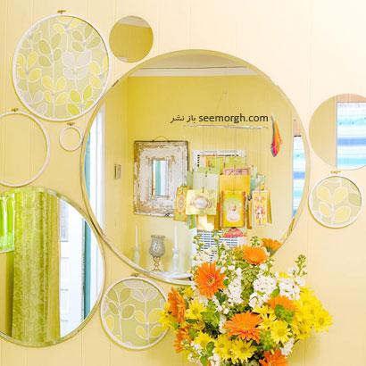 تزئینات آینه ای مدور در دکوراسیون داخلی,ایده هایی زیبا برای چیدمان شیک منزل تان,دکوراسیون داخلی,چیدمان شیک, دکوراسیون داخلی خانه تان را با این ایده ها شیک بچینید