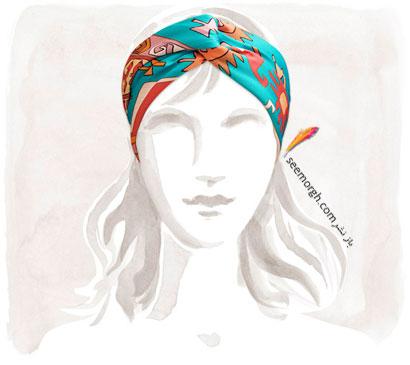 عکس مدل های روسری مارک دار جدید