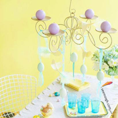 ترئین لوستر با تخم مرغ عید