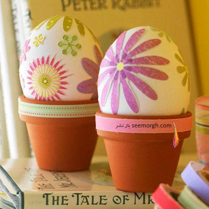 نمایش تخم مرغ در گلدان