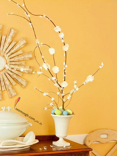 تخم مرغ عید به شکل گل و درخت