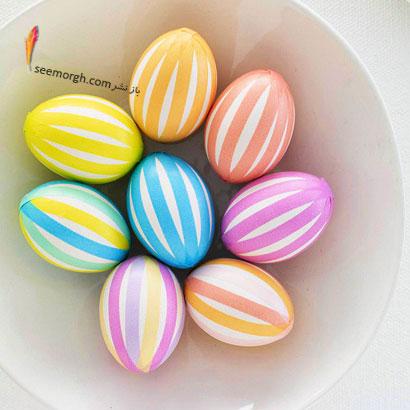 کاسه ای ازتخم مرغ های  رنگی