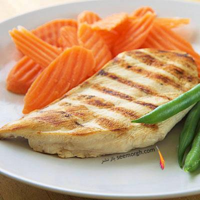 بهترین ماده غذایی برای معده و گوارش : گوشت مرغ و ماهی