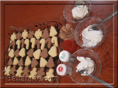 مرحله دوازدهم درست کردن شیرینی آدمکی برای کریسمس