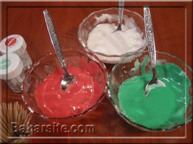مرحله سیزدهم درست کردن شیرینی آدمکی برای کریسمس