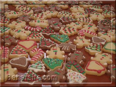 مرحله هفدهم درست کردن شیرینی آدمکی برای کریسمس