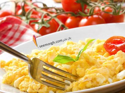 تخم مرغ شکم تان را تخت می کند