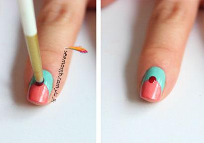 آموزش تصویری ساده طراحی روی ناخن
