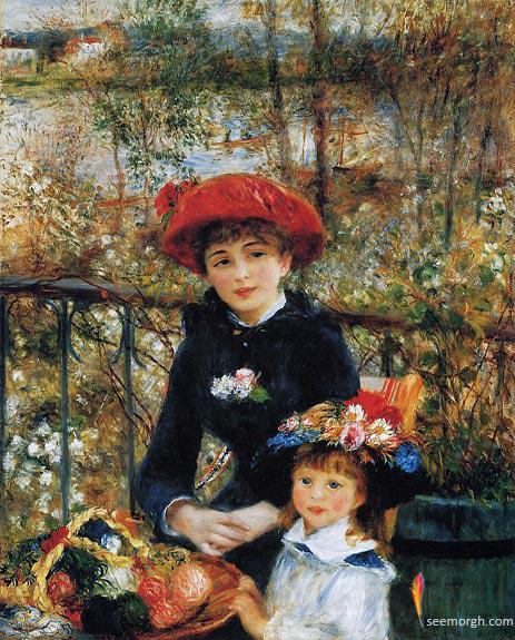 نقاشی دو خواهر اثر آگوست رنوار