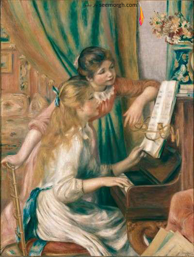 دختران در کنار پیانو