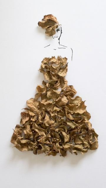 طراحی زنان مدل زیبا به کمک برگ درختان!! + 6 عکس