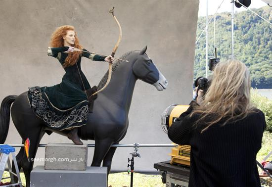 جسیکا چاستین در نقش دختر مو قرمز انیمیشن «شجاع» والت دیزنی