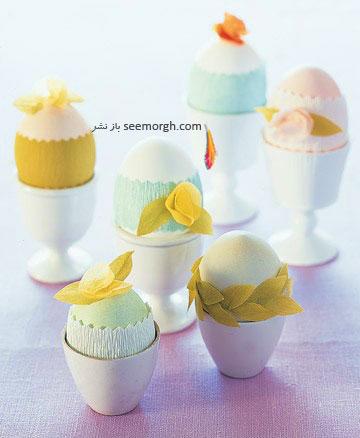 تزیین تخم مرغ,تخم مرغ هفت سین,تزیین تخم مرغ هفت سین,تزیین تخم مرغ سفره هفت سین,تزیین تخم مرغ سفره هفت سین با کاغذ کشی
