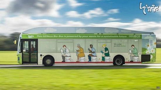 اتوبوسی که با سوخت مدفوع کار میکند