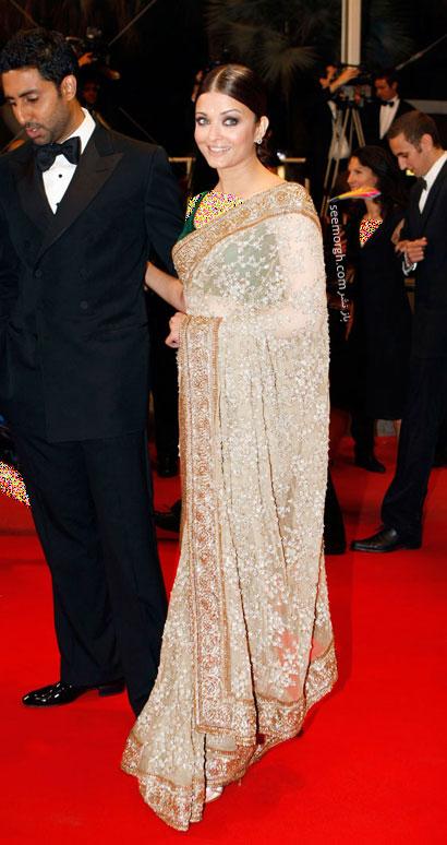 غرورماه های مختلف سال پوشش های مختلف Aishwayia Rai در جشنواره کن از سال 2002 الی ...
