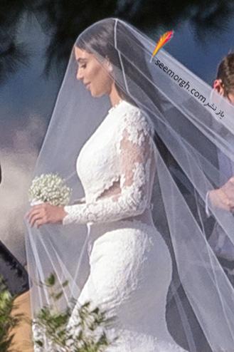 مدل لباس شب با تور بدن نما لباس عروس ژیوانشی کیم کارداشیان!!! - واضح