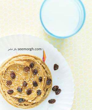 صبحانه مقوی برای کودکان مدرسه ای : کره بادام زمینی و شیر