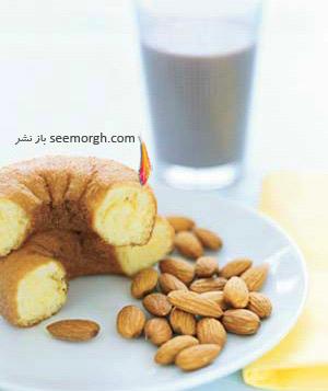 صبحانه مقوی برای کودکان مدرسه ای : کیک ساده با شیرکاکائو