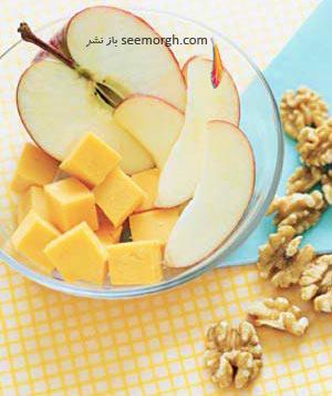 صبحانه مقوی برای کودکان مدرسه ای : میوه و گردو