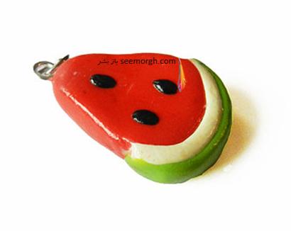 آویز گردنبند به شکل هندوانه برای شب یلدا