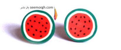 گوشواره گرد به شکل هندوانه برای شب یلدا