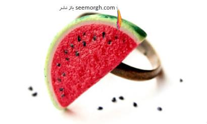 انگشتر به شکل هندوانه برای شب یلدا