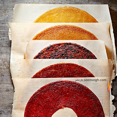 طرز تهیه لواشک میوه ای برای پاییز و زمستان